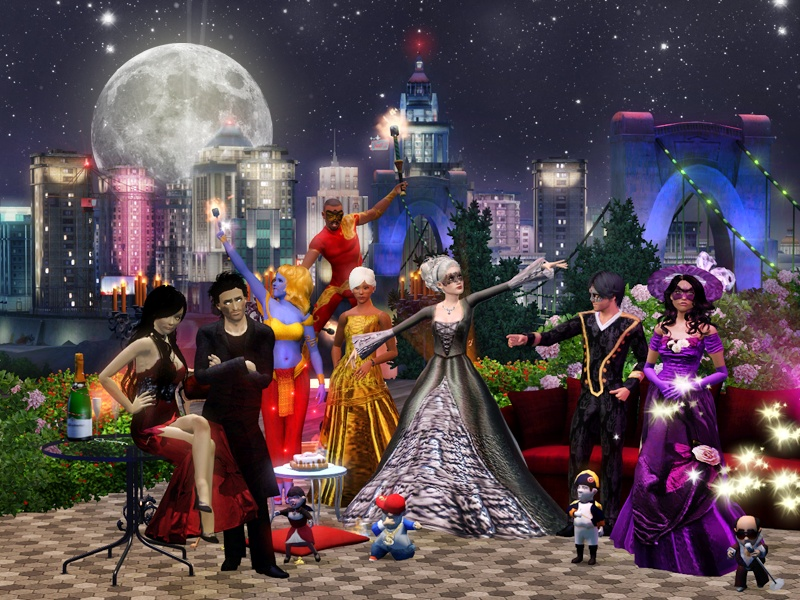 Sims Party by miaminight
