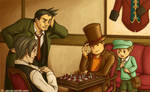 Layton VS Edgeworth: Battle of the Chessmasters