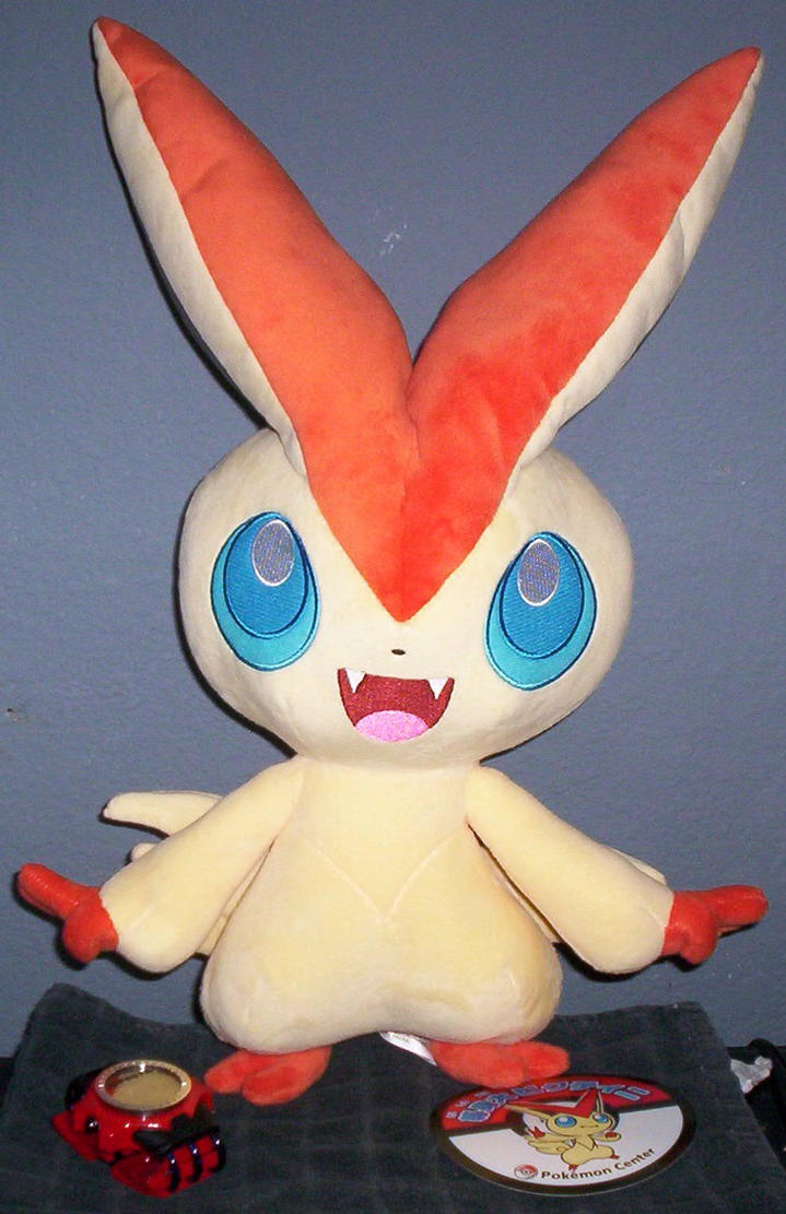 Life-Size Victini Plush by XIIIthEnigma