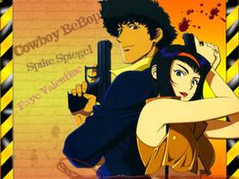 Cowboy Bebop: Spike and Faye. by MusashiChan69
