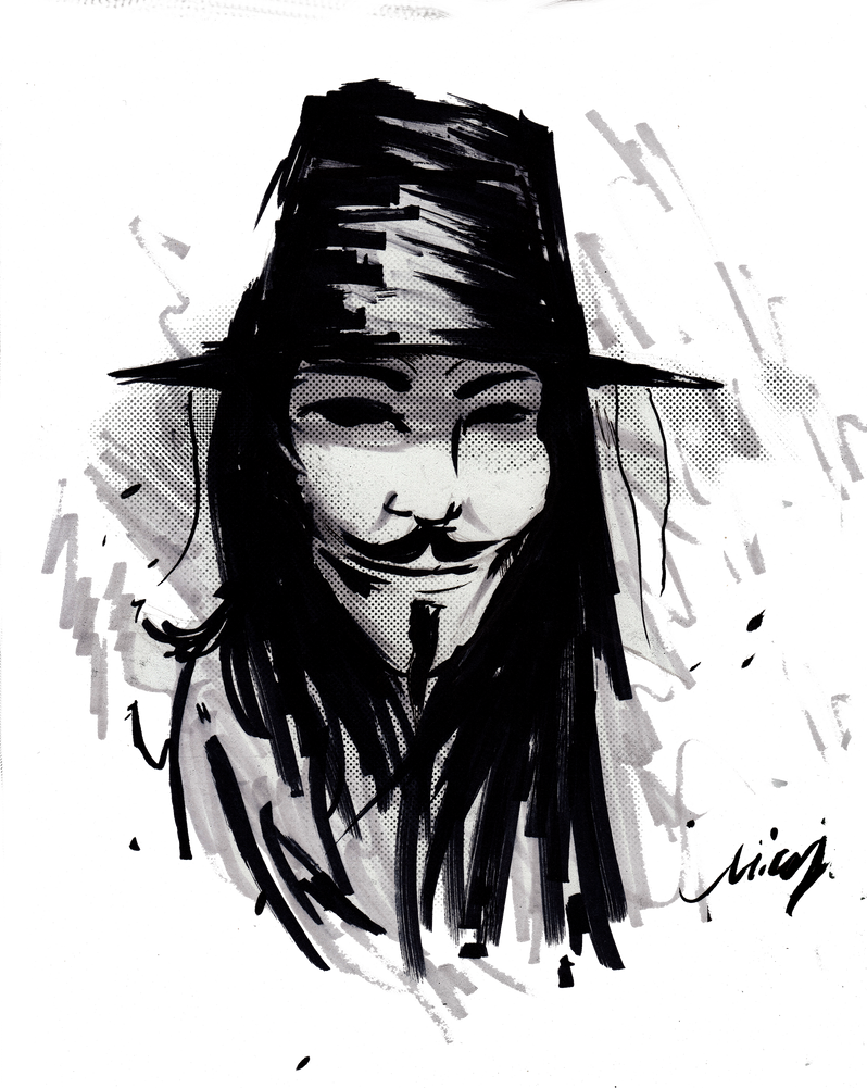 V For Vendetta by nicollearl