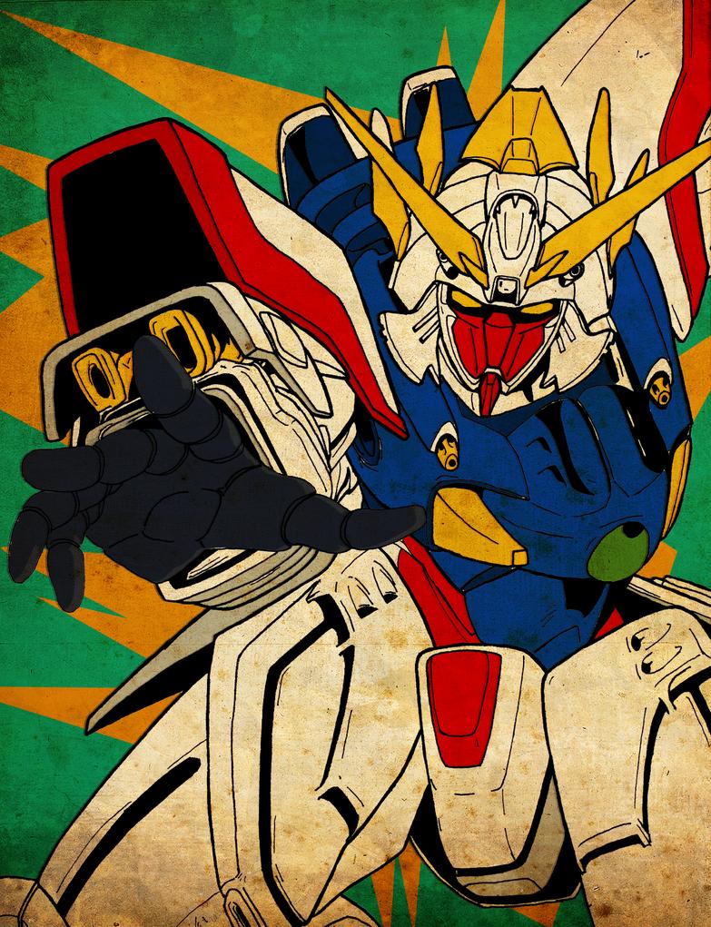 Shining Gundam by nicollearl  G Gundam Shining Gundam