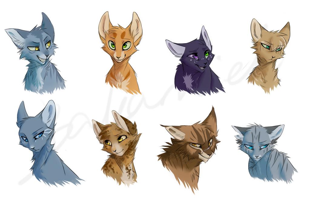 Warrior Cats Doodles by bakamiel on DeviantArt Warrior Cat Drawings Firestar