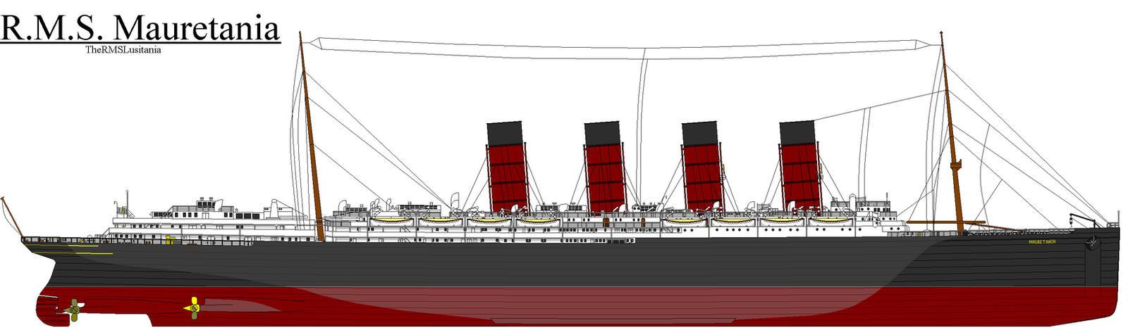 RMS Mauretania by ColinTheP6M on DeviantArt