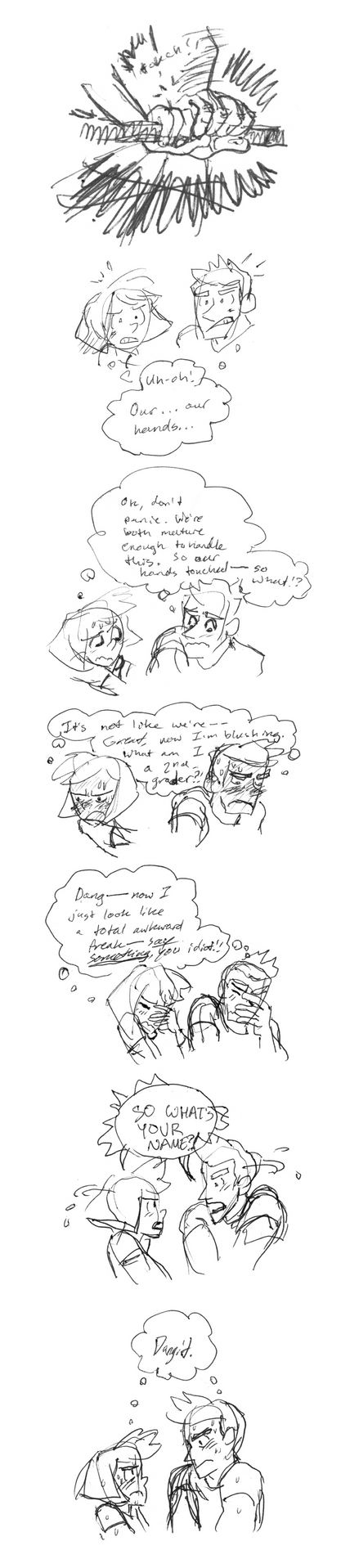 Sketch Comic - Hands touching by animatrix1490