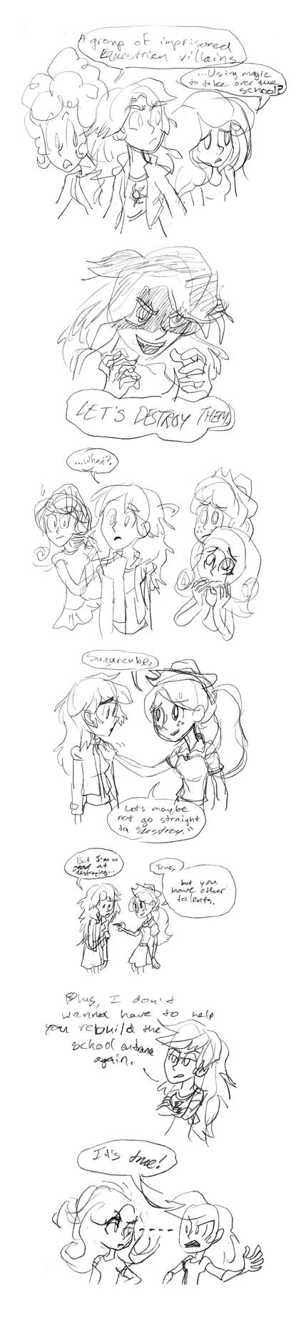 Sketch Comic - DESTROY by animatrix1490