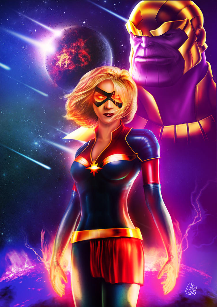 Captain Marvel by MrWills