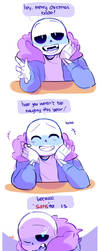 Holiday Greetings from Sans by ttoba