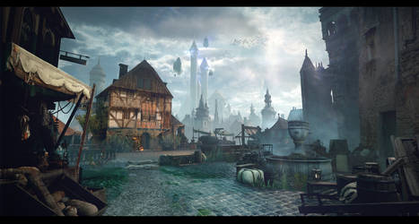 Medieval City Street 01