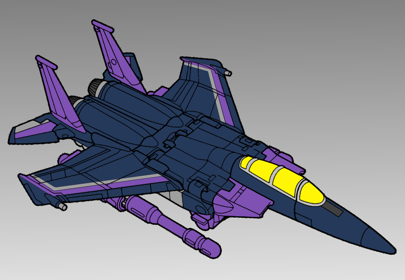 Duskwing Reference, Jet Mode by DragonessEclectic