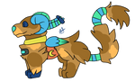 Blue the burricon by MoonLightTheDog