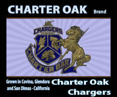 Fruit Crate Label - Charter Oak High School