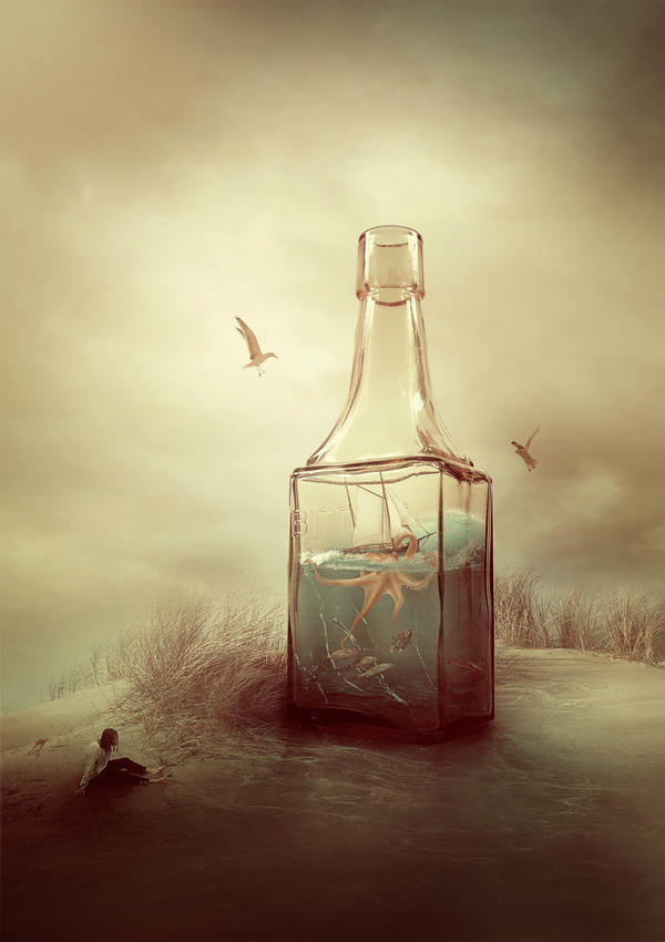 Salvation of the bottle by AmandineVanRay