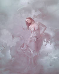 The heavenly shepherdess by AmandineVanRay