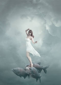 The soaring flight with fishes