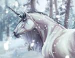 Unicorn in the snow