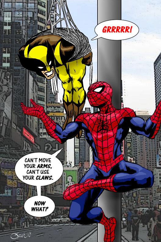 Wolverine Vs Spider Man By SashScott