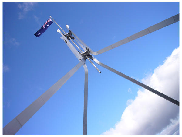 Flagpole of Parliament House by MrSammy
