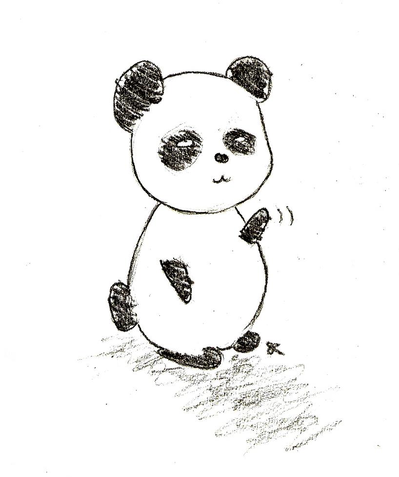 Panda Greetings by ChiuuChiuu