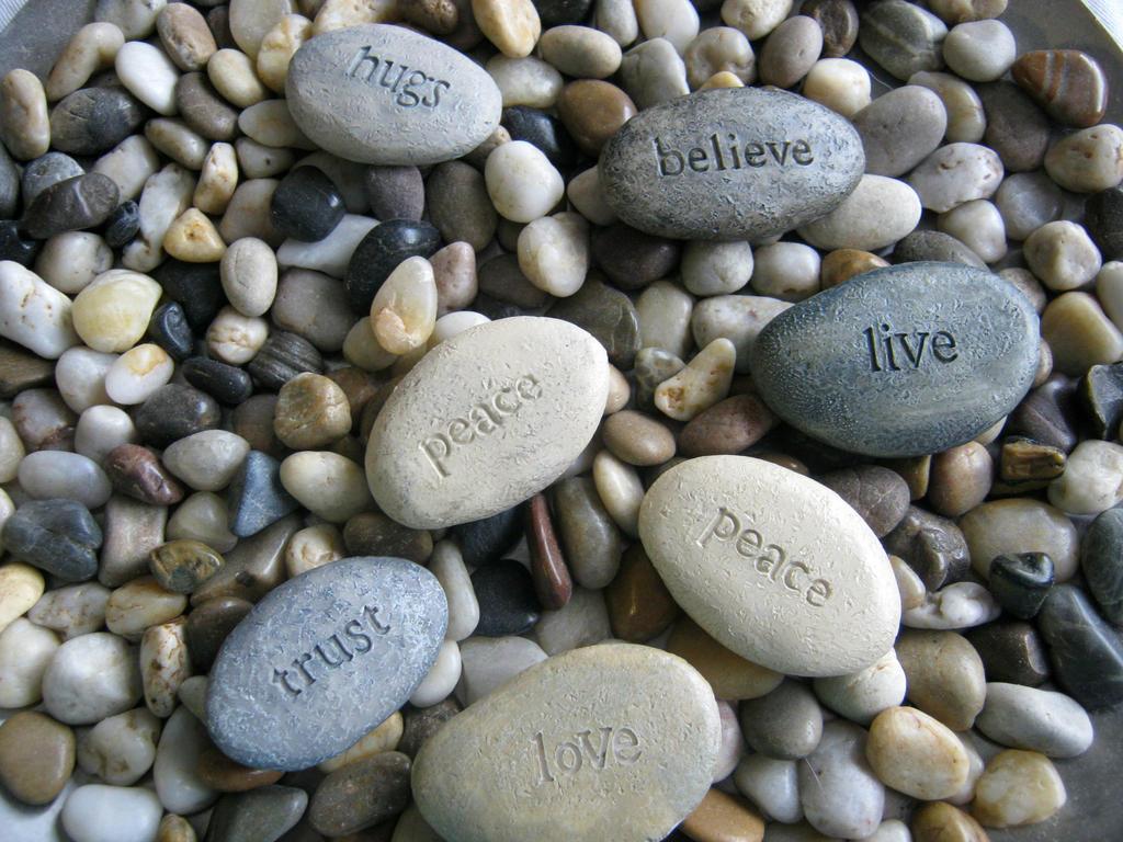 Life Lesson Rocks by ChiuuChiuu