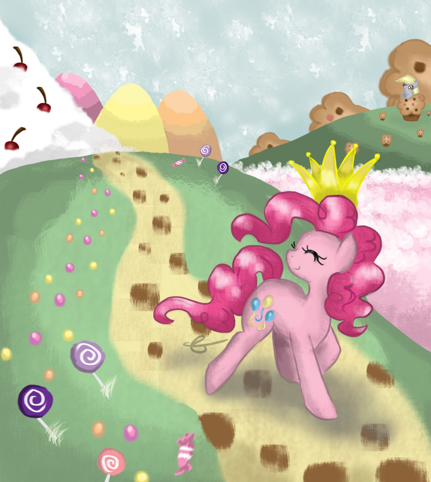 Pinkie Pie, the Queen of Candies by ChiuuChiuu