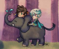 Sorey, Mikleo and Elephant