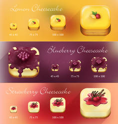 Photorealistic Cheesecake App Icon by dikae19