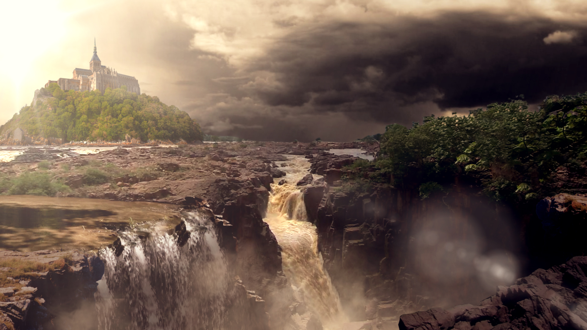 Matte painting dark raneh falls by aqwmim on deviantart for Matte painting