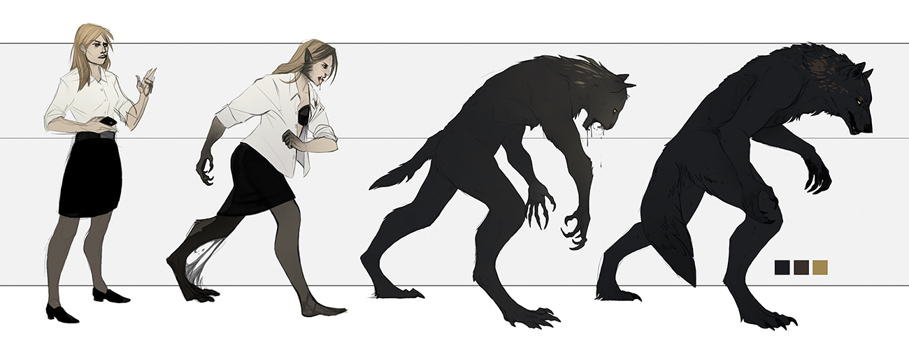 Werewolf transformation art - photo#14