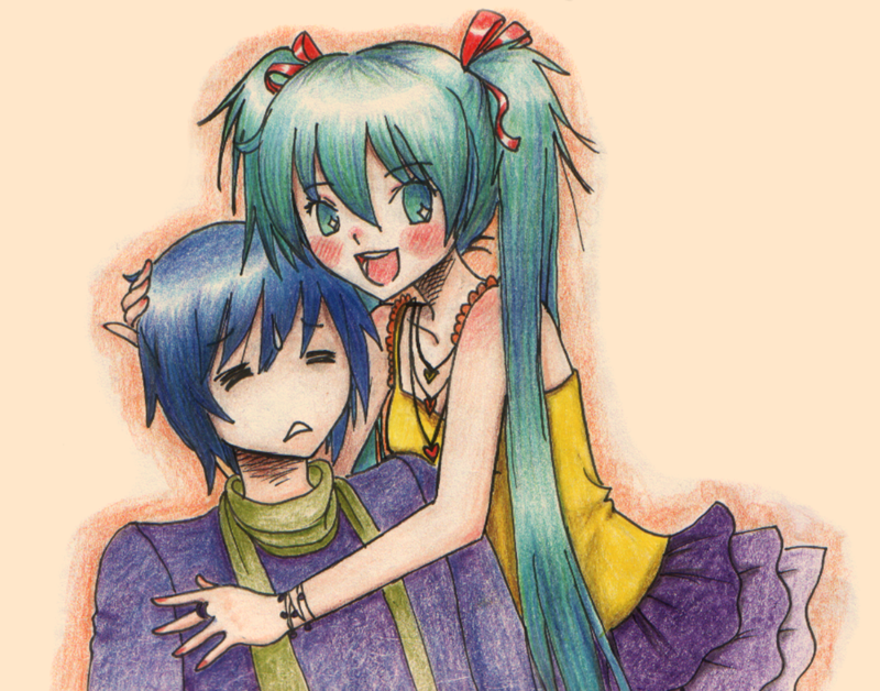 Miku Kaito by Plucy