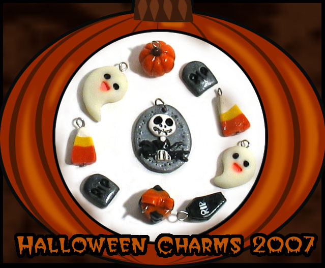 Art I Cake Halloween Charms : Halloween Charms 2007 by chat-noir on DeviantArt