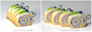 Blueberry Sponge Cake Charms