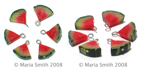 Juicy Watermelon Charms by chat-noir