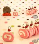 Pink Velvet Cake-Roll Charms
