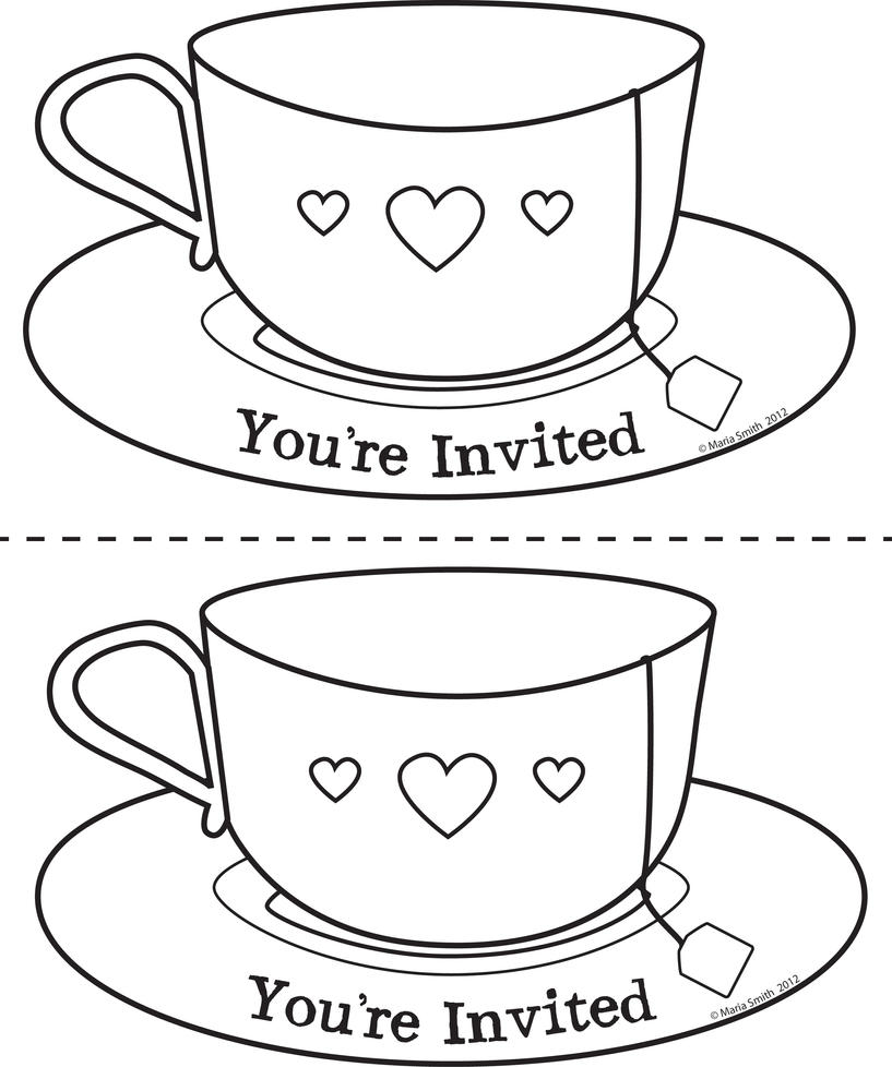 Mothers Day Teacup Invite 2up by chatnoir on DeviantArt
