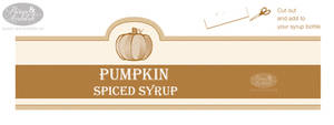 Pumpkin Syrup Label by chat-noir
