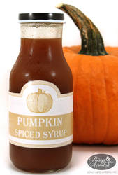 Pumpkin Syrup Label - 2012 by chat-noir