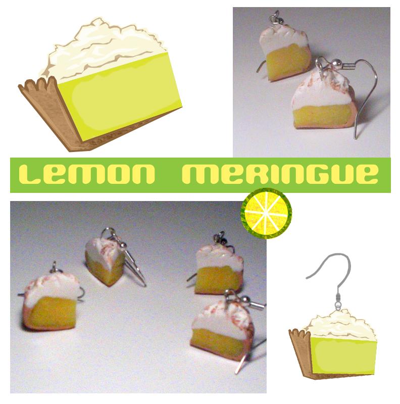 Lemon Meringue Pie Earrings by chat-noir