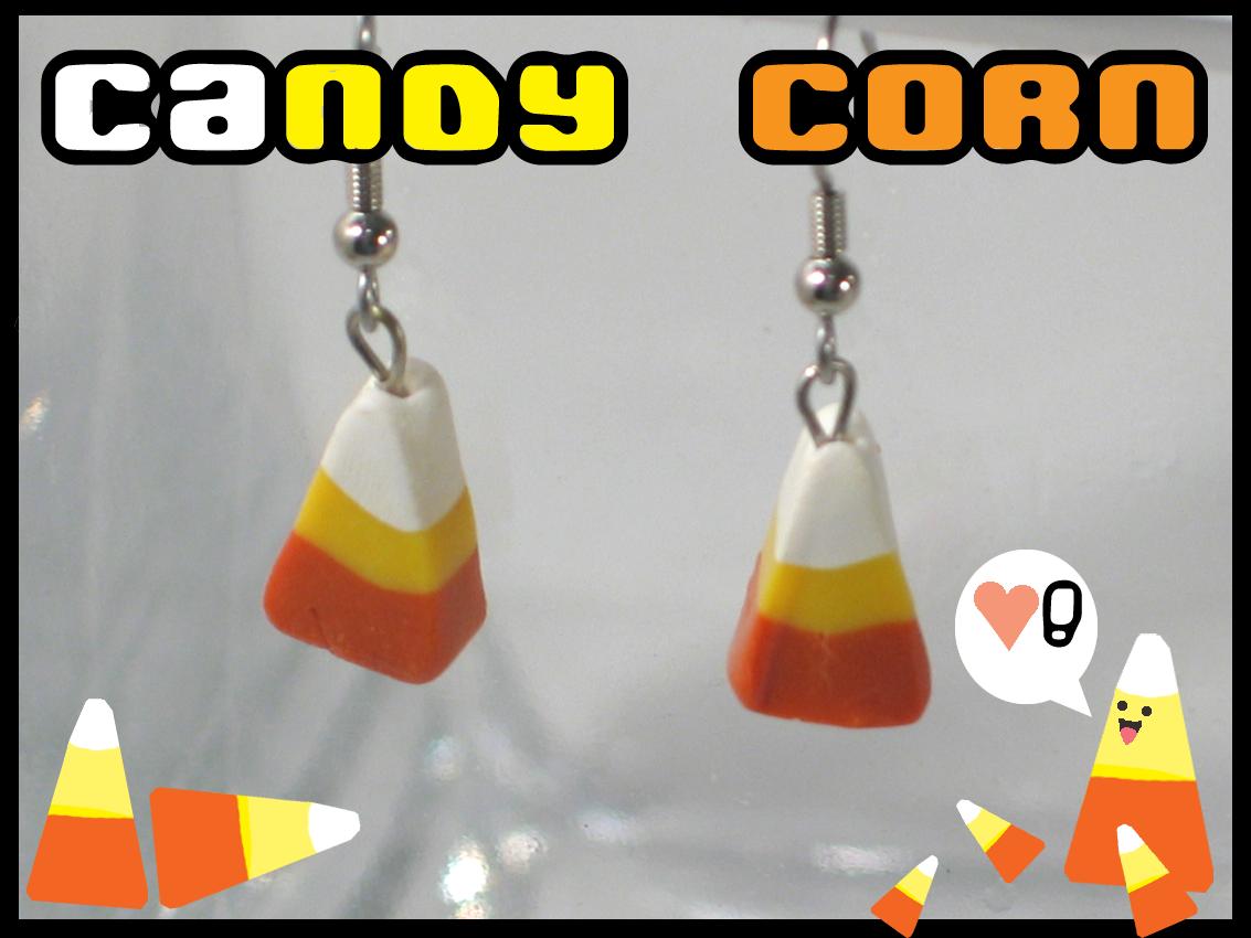Candy Corn Earrings By Chatnoir
