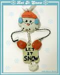 Let It Snow Ornament by chat-noir