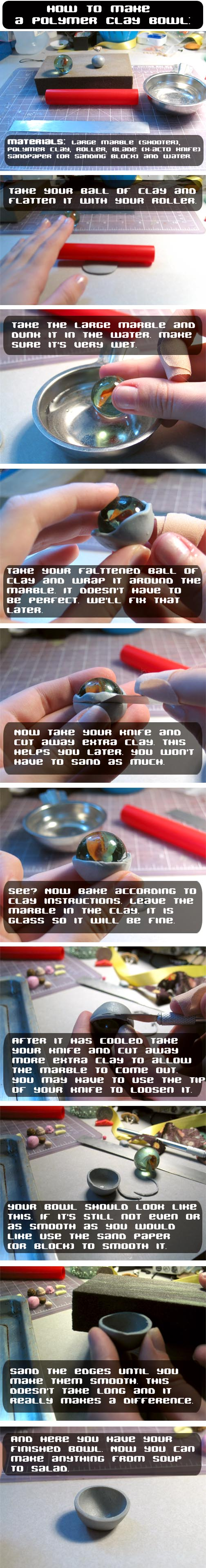 Polymer Clay Bowl Tutorial by chat-noir