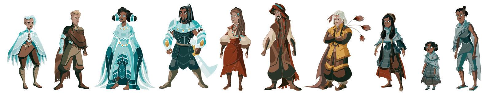 'Pilgrims', Full Character Lineup
