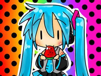 Chibi-Miku-Coloring-test by baka-chin