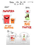 Hungry - Cute Monsters Contest T-Shirt Design