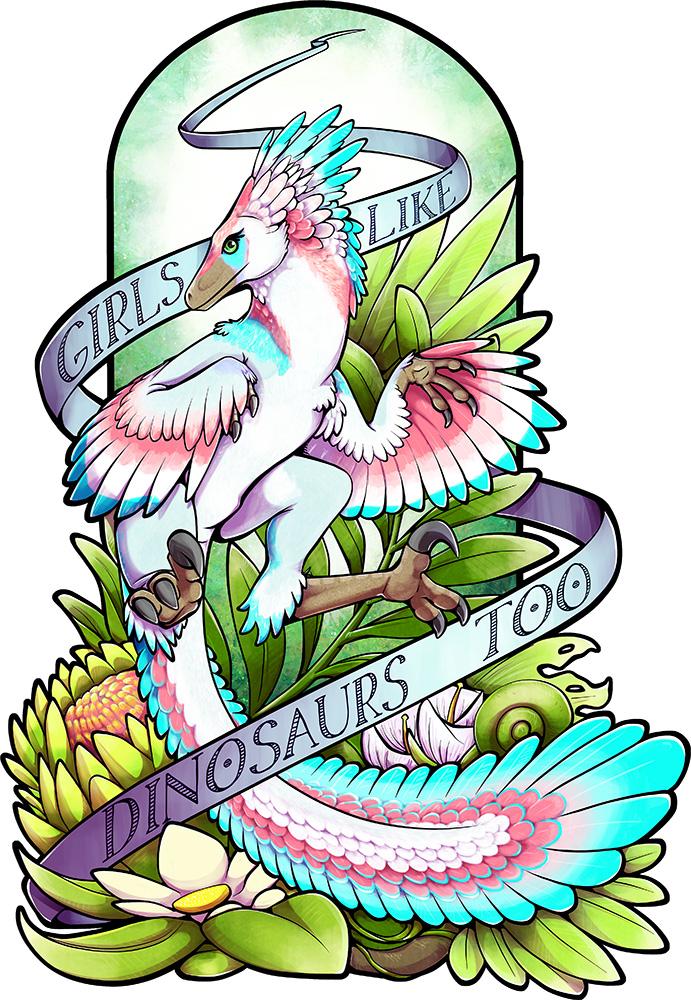 Sylveraptor (Girls Like Dinosaurs Too) by RadiantGlyph