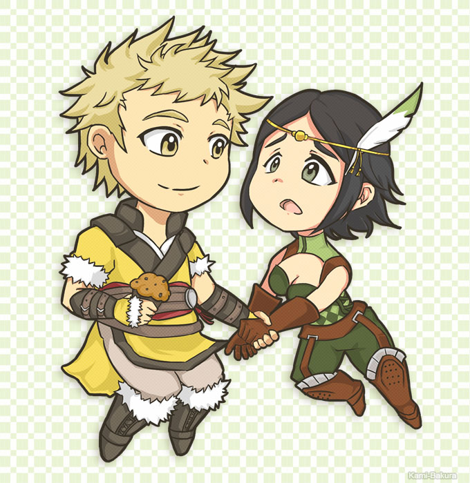 Fire Emblem Awakening - Owain and Noire by kami-bakura