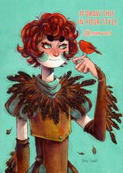 Drawthisinyourstyle - Bird boy