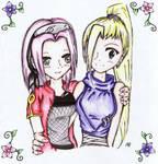 Ino and Sakura- Colored
