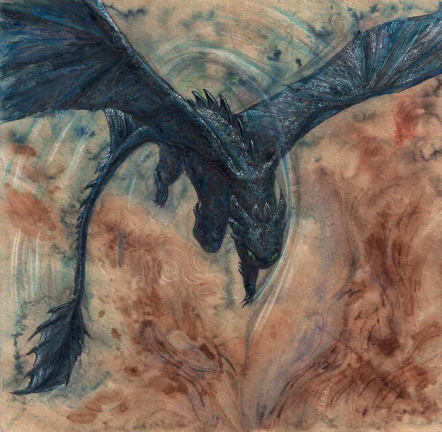 Night fury by anede on deviantart for Your paintings are amazing