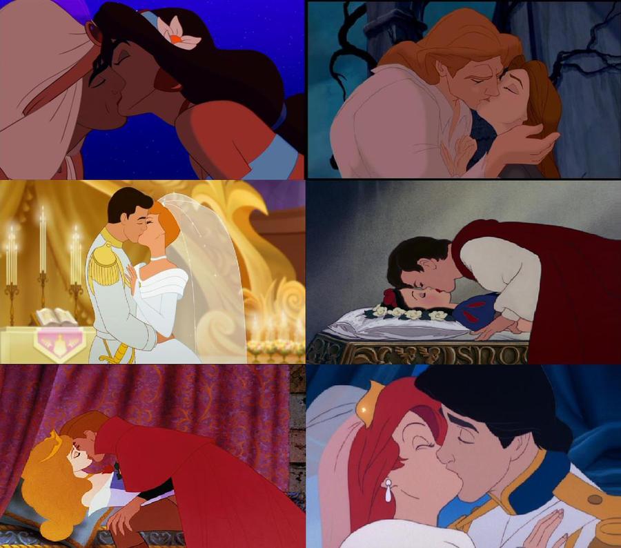 Disney Princess and Prince Kisses by Randy123456we